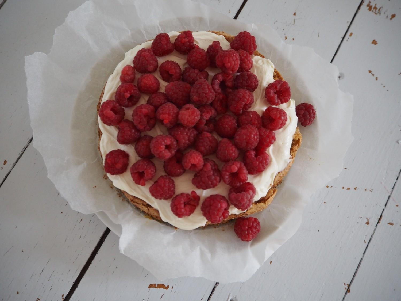 hindbær-kage