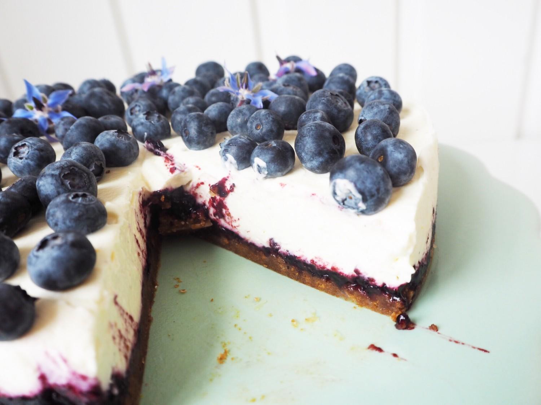 Blåbærcheesecake