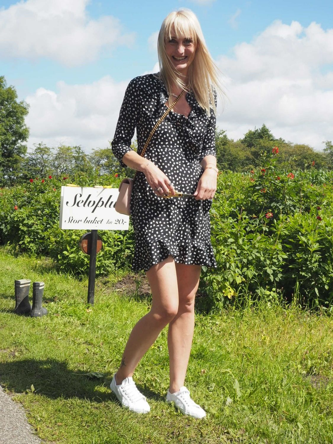 Vero-moda-henna-dot-3/4-wrap-dress