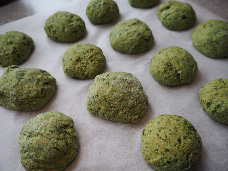 Grahamsboller med spinat