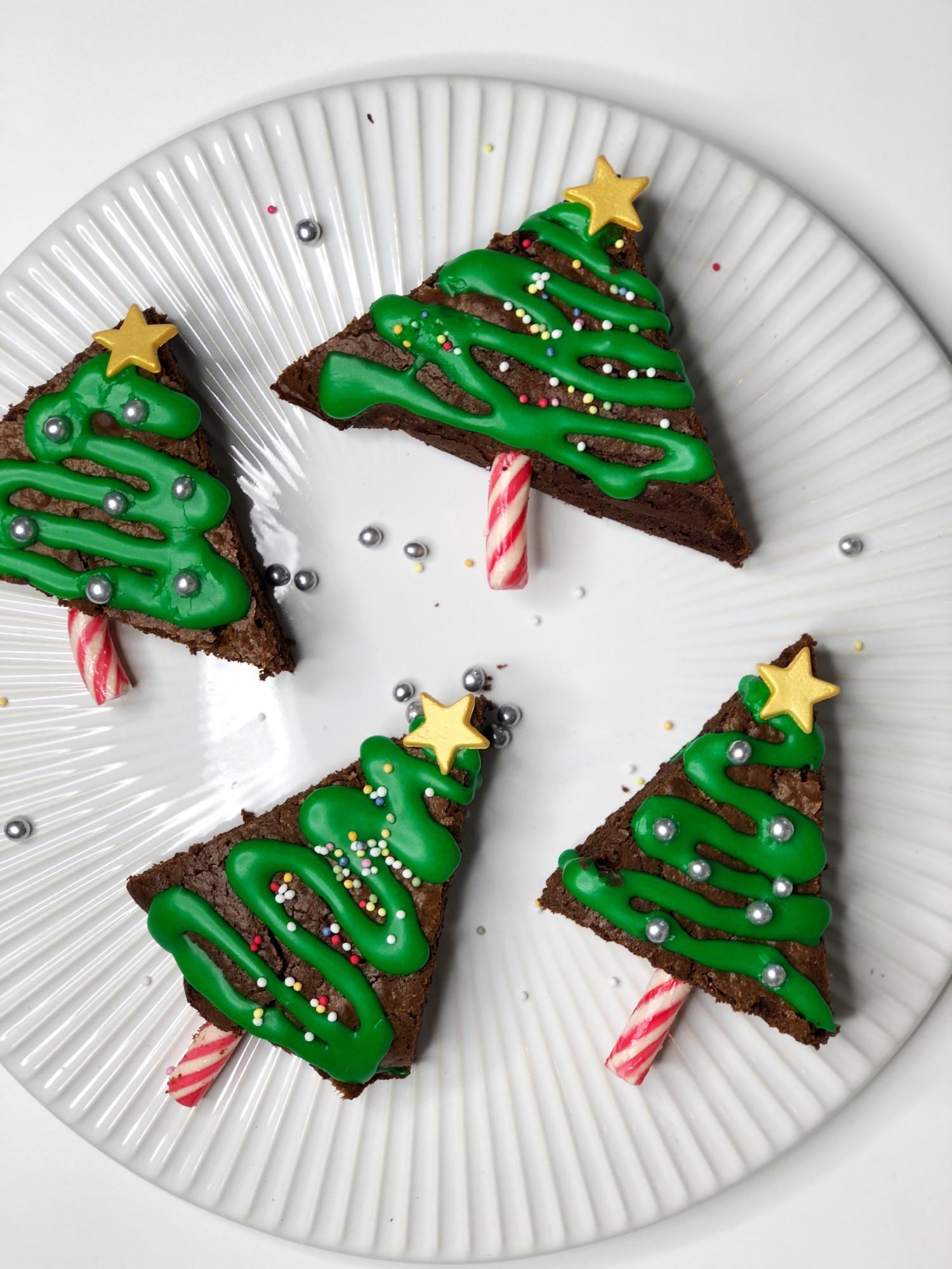 juletræ af brownie
