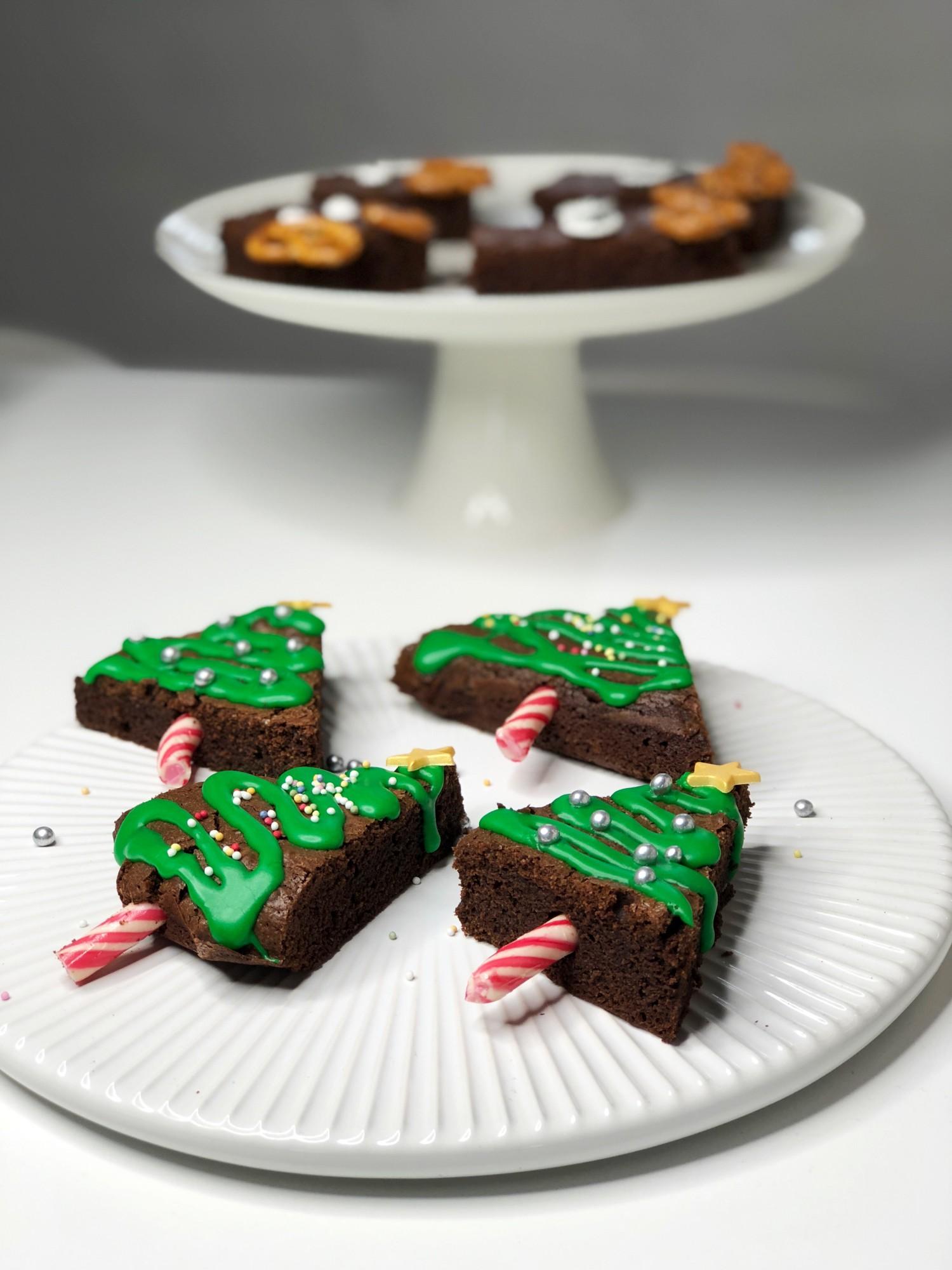 Juletræer af brownie