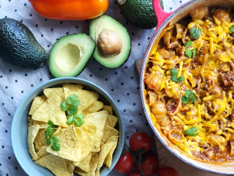 opskrift one pot cheesy taco pasta
