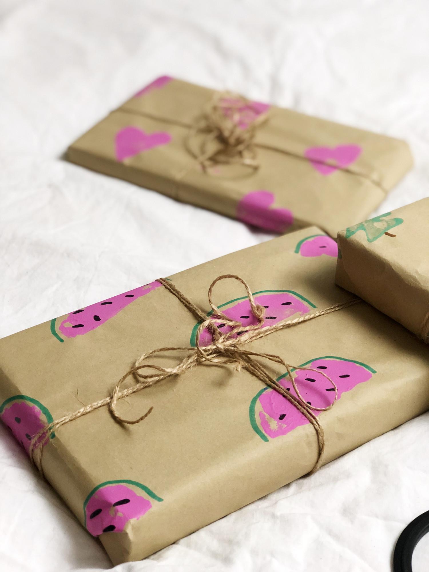 hjemmelavet julegavepapir