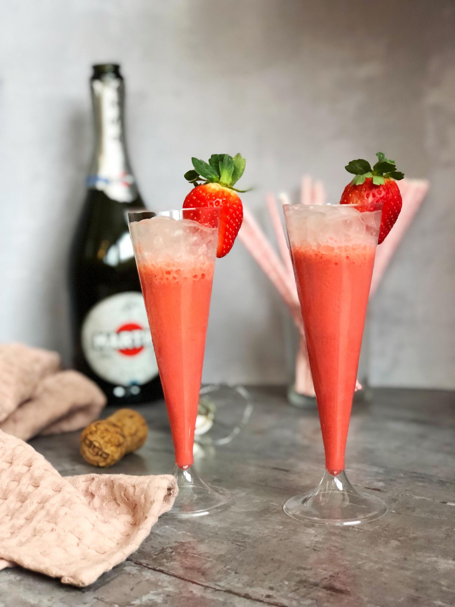 mimosa med jordbær