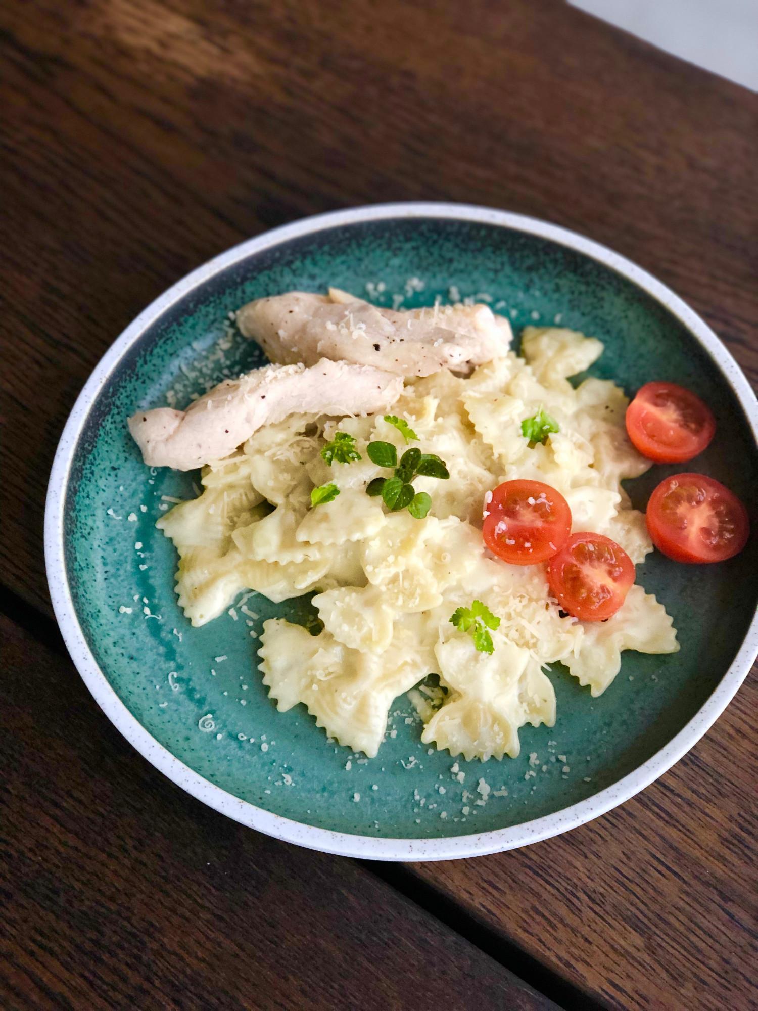 One pot pasta med kylling og fløde