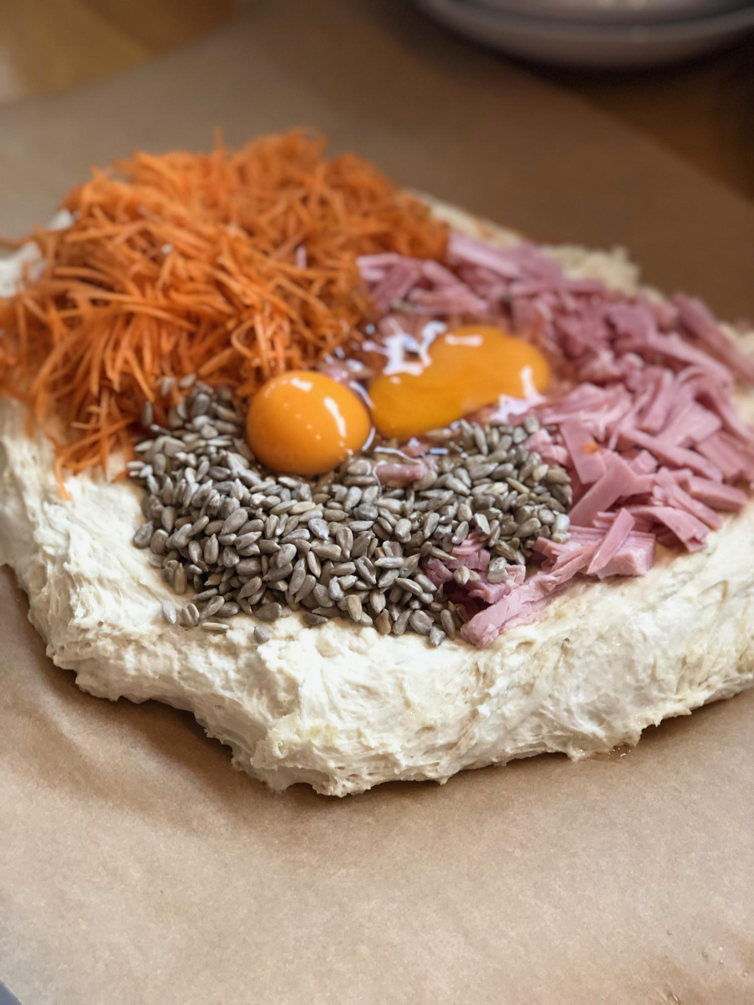 gulerodsbrud med skinke opskrift