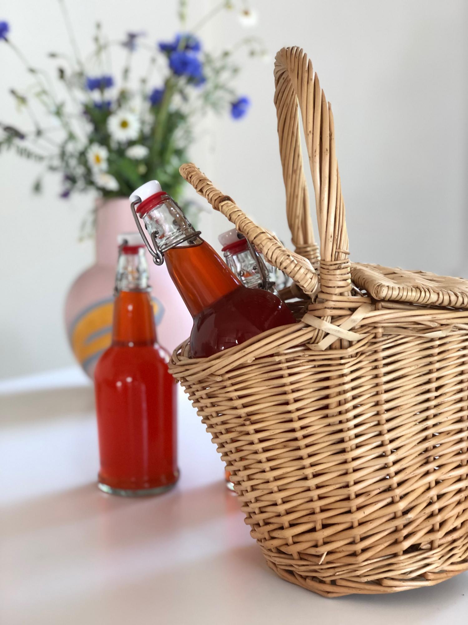 Jordbær- & hyldeblomstsaft Opskrift