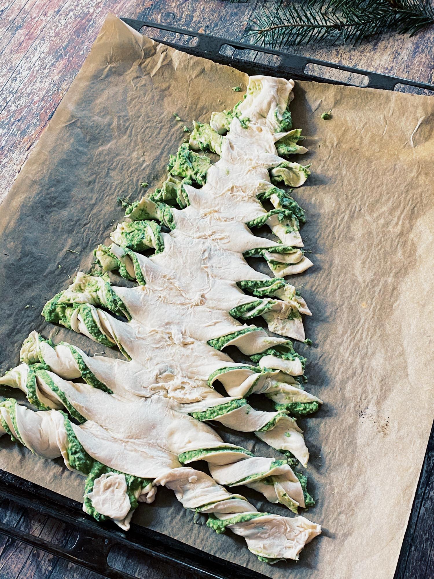 Juletræ af butterdej opskrift