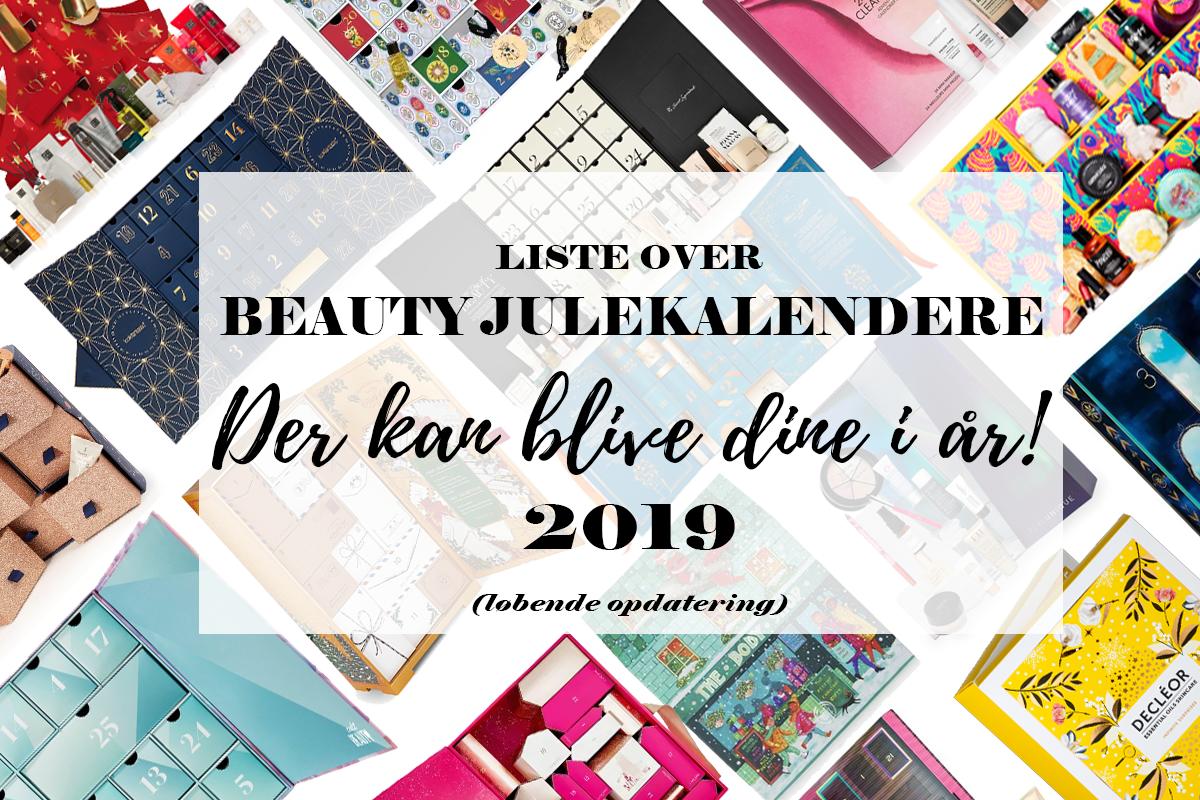 oversigt over beauty julekalendere 2019