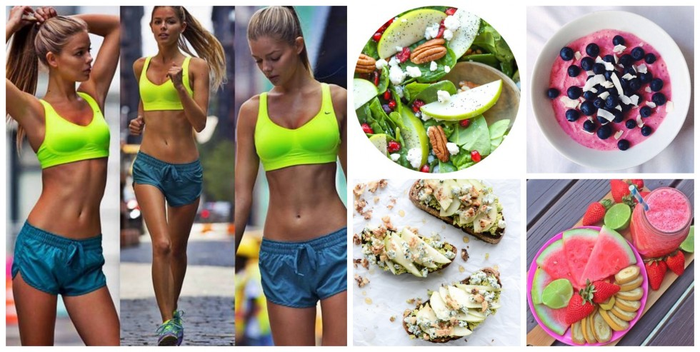 Healthy Lifestyle Run Food Collage