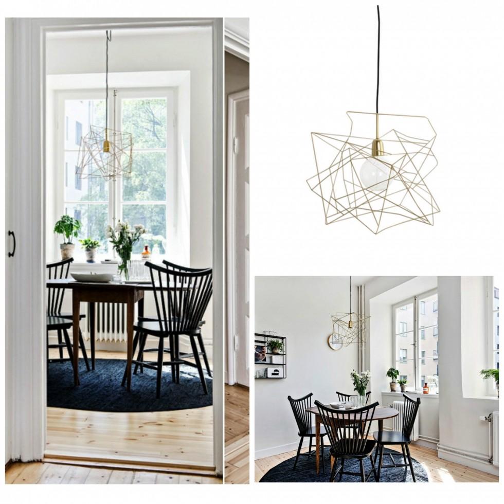 Blank Gold Lampeskærm Collage