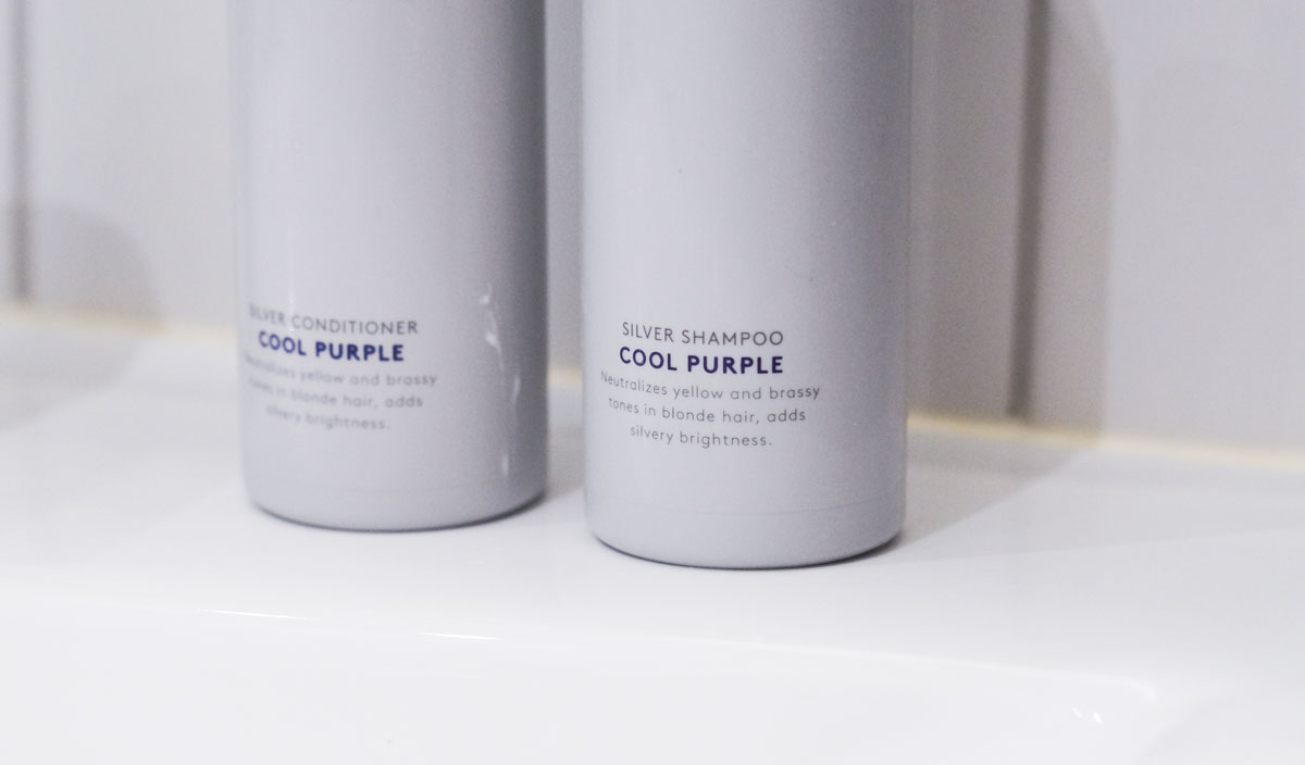 Sundere hår uden gule toner - Antionio Axu Silver Shampoo + conditioner - Cool Purple