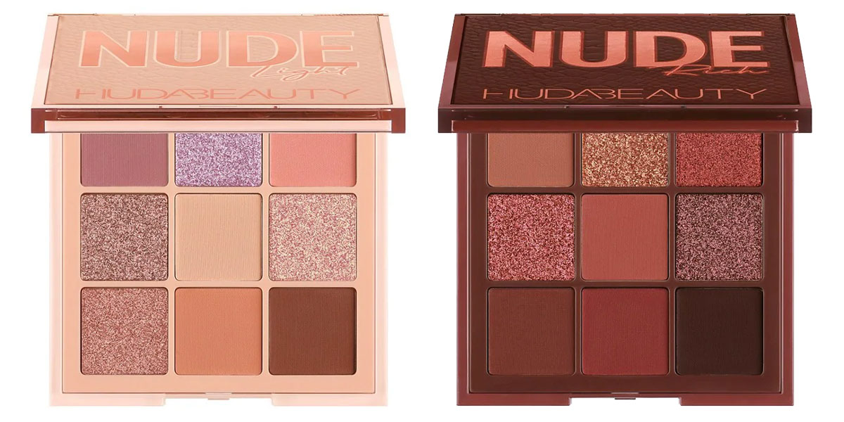 "Huda Beauty Nude Obsessions in ""Light"" and ""Rich"""