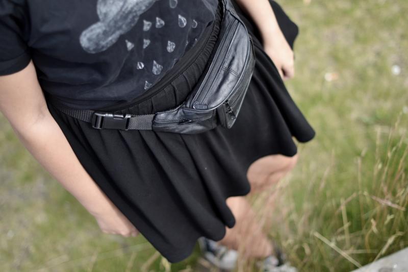 bæltetaske, bumbag læder detail
