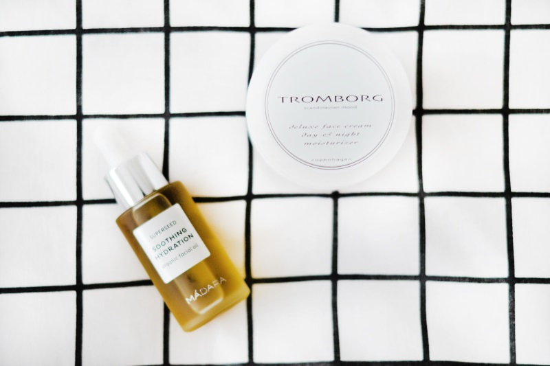 tromborg deluxe facecream madara face oil favorites
