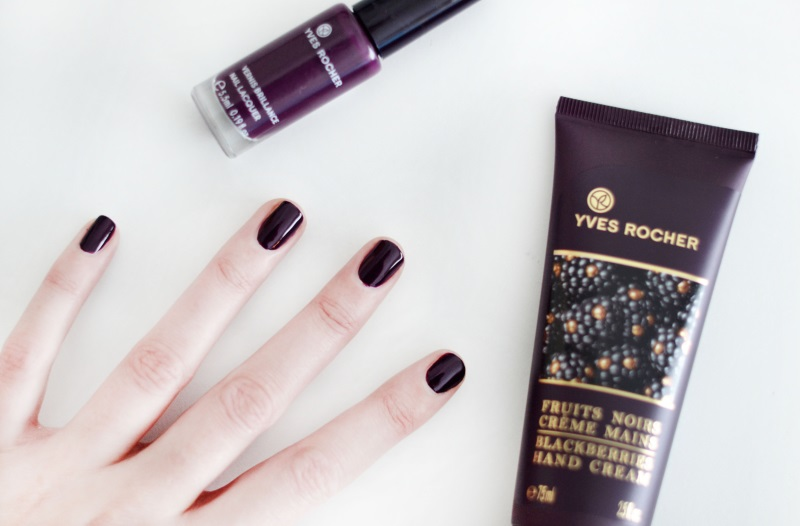 yves rocher hand cream nail polish purple