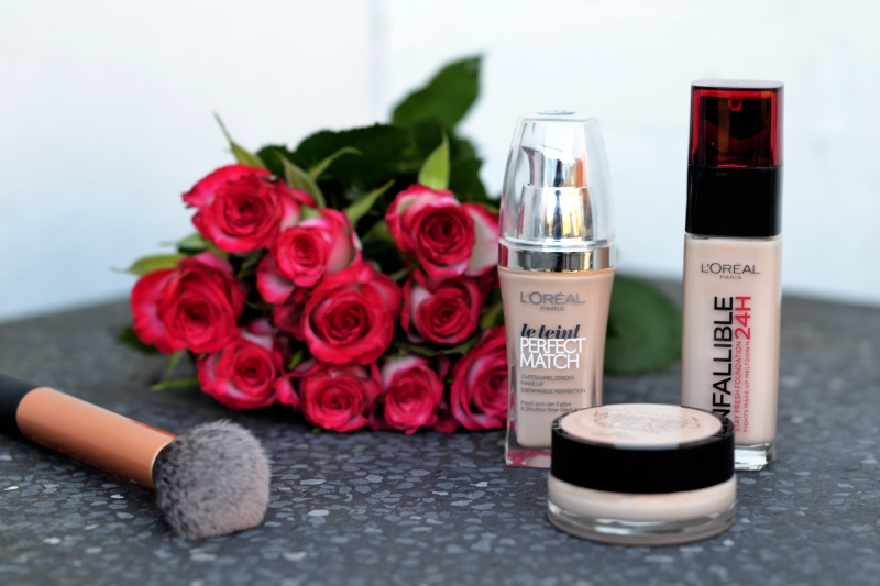 3 foundations from the drugstore loreal perfekt match true match infallible 24h max factor whipped creme billigvoks