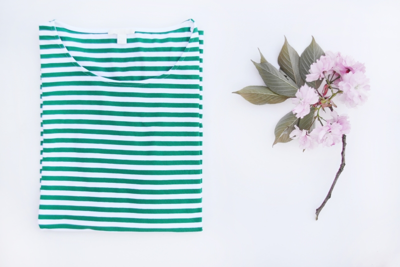 cos stripes bluse trøje stribet green