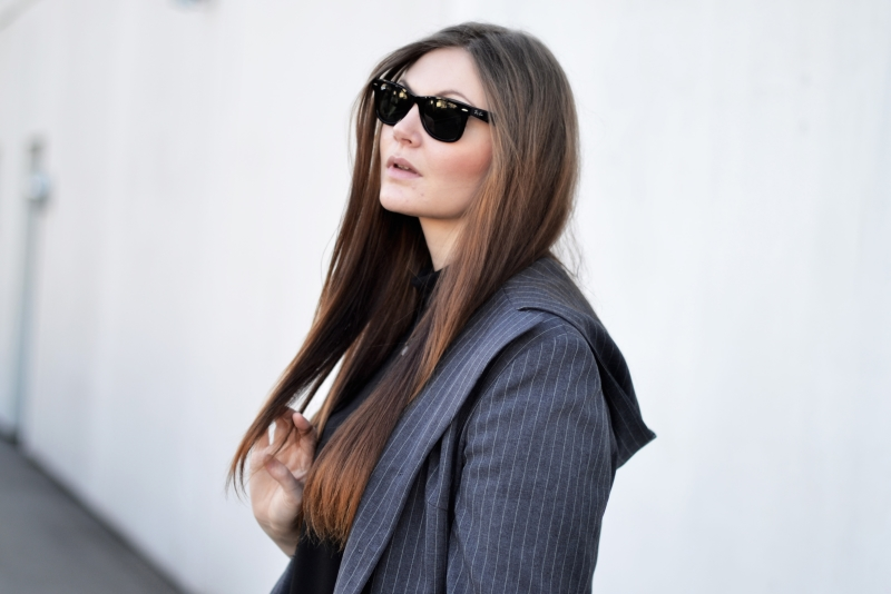 outfit blazer ray ban2