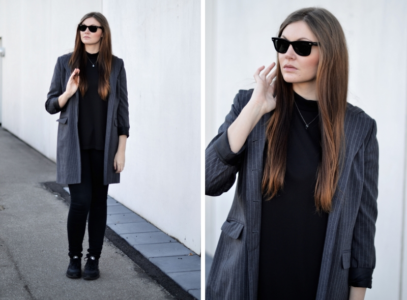 outfit sporty blazer ray ban solbriller