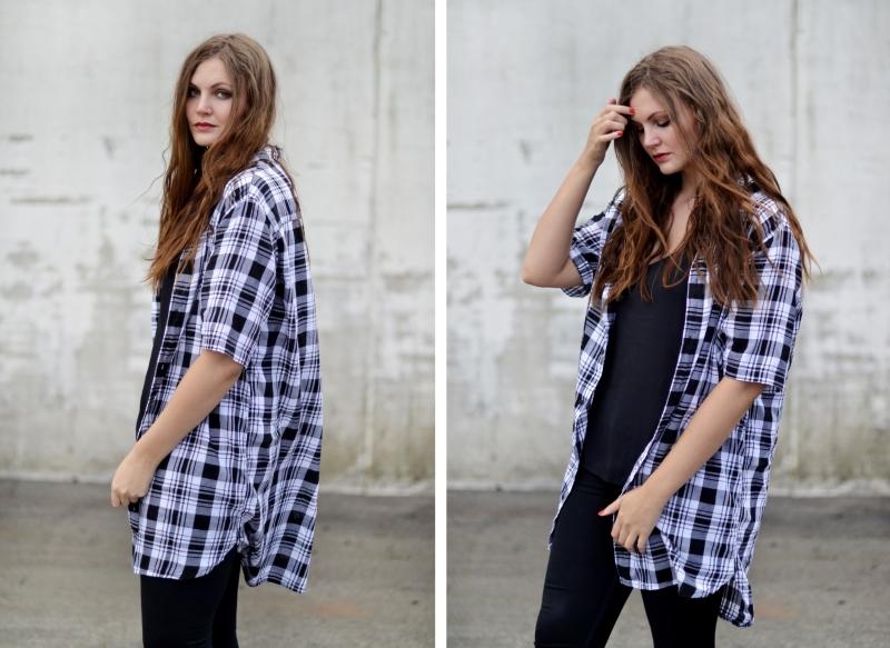 outfit åben kortærmet skovmandsskjorte og vans old skool
