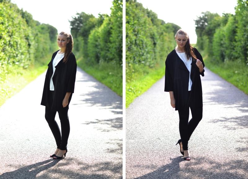 outfit hvid t-shirt, jeans stiletter