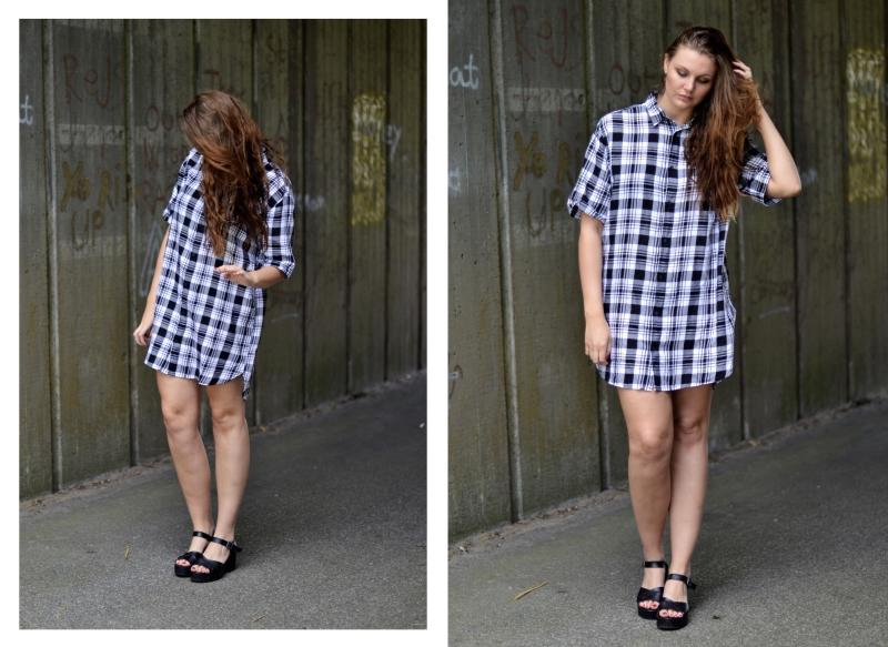 outfit kort ærmet skovmandsskjorte høje sandaler1
