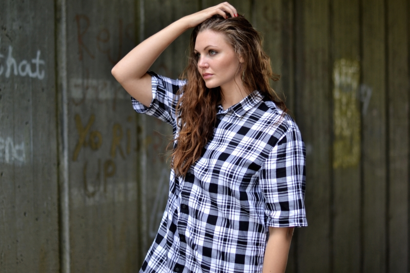 outfit kort skovmandsskjorte kjole1