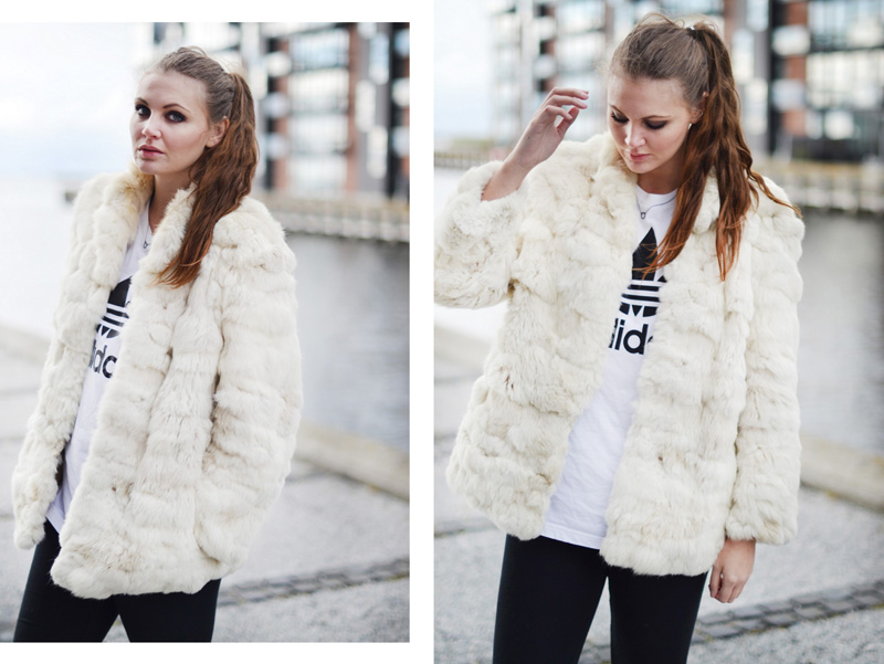 outfit-lys-pels-hvid-adidas-t-shirt-nike-sneaks