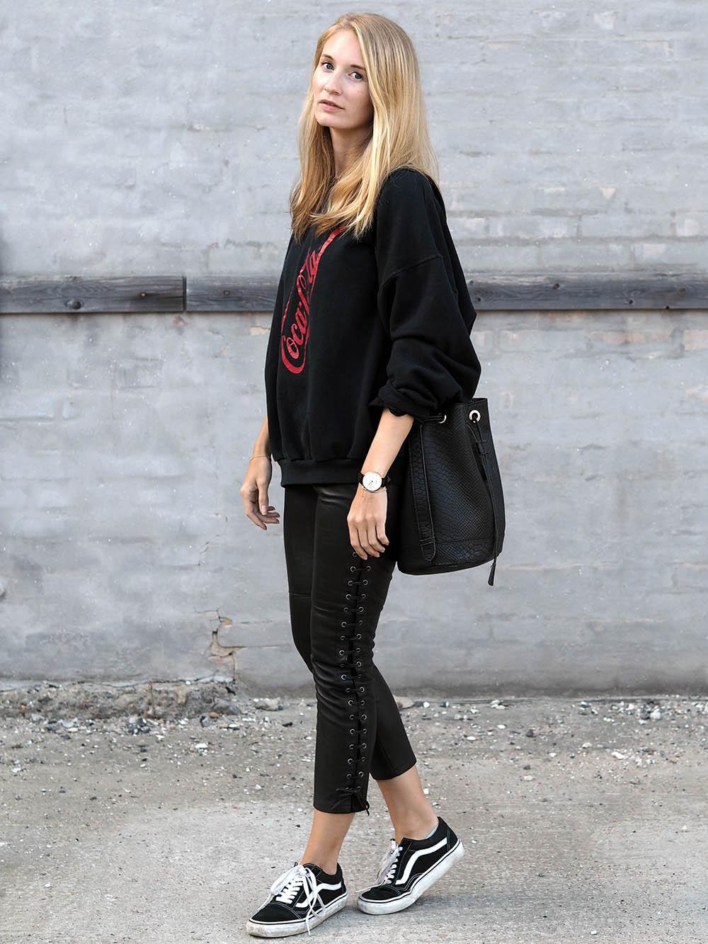 h&m marant leather pants