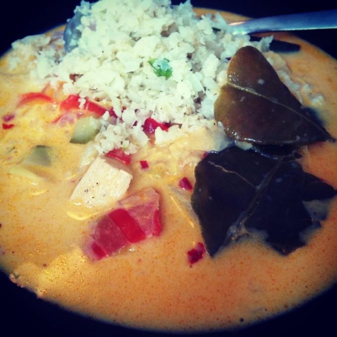 blomkålsris med red curry