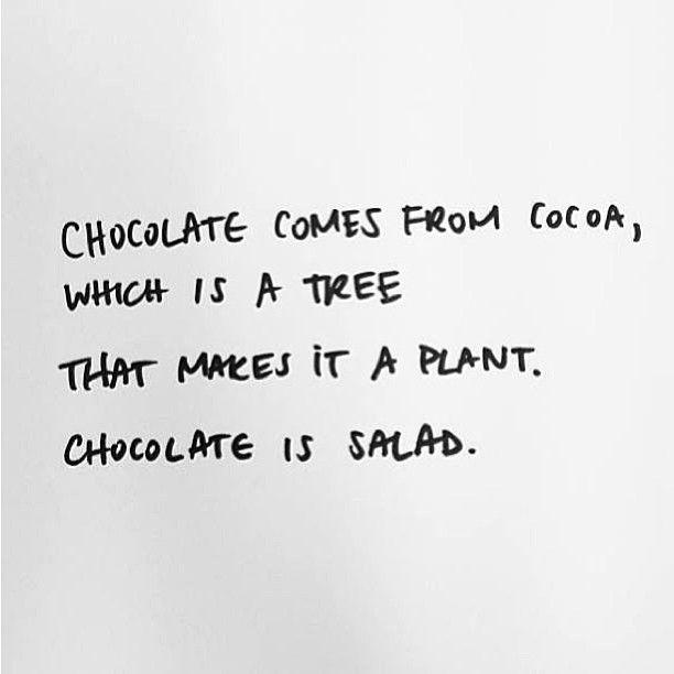 chocolate excuse