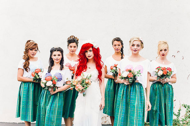 Little Mermaid inspired wedding photo