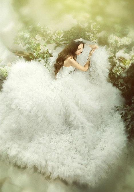 robe de mariée de la Balance princesse longue blanche