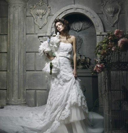 robe  de mariage du Bélier bustier longue blanche