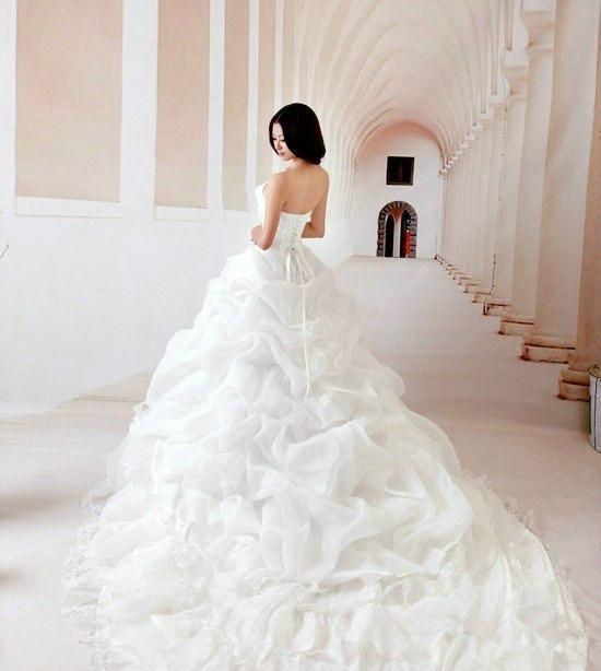 robe de mariage du Cancer princesse blanche
