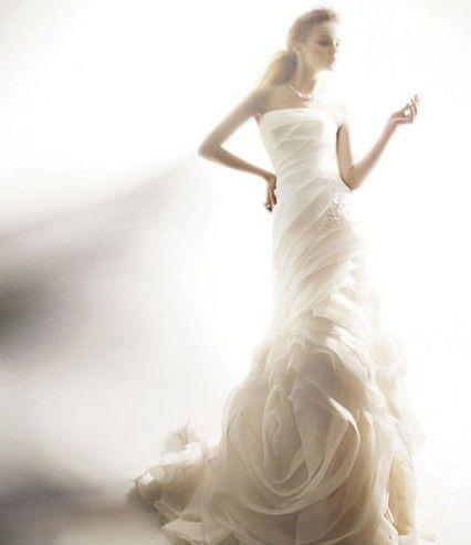 robe de mariée  du Lion sirène longue blanche