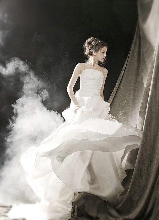 robe de mariage du Sagittaire bustier blanche