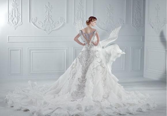 robe de mairée du Taureau longue blanche