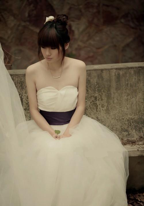 robe de mariage du Verseau bustier simple ligue