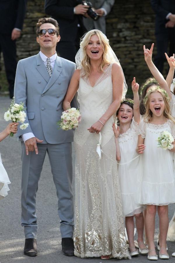 Célèbres Robe de mariée pour célébrité Kate Moss