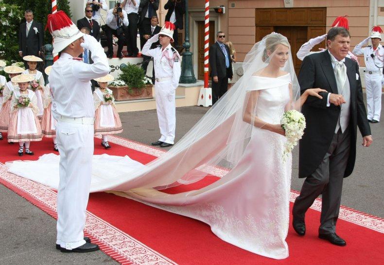 Célèbres Robe de mariée pour célébrité princesse Charlene Wittstock