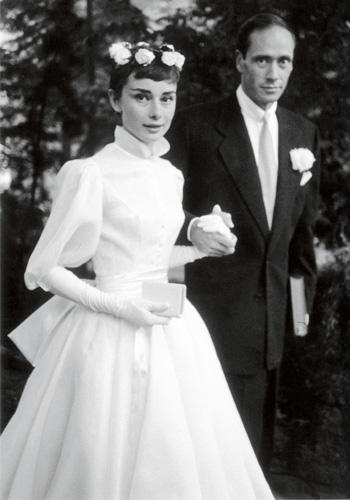 Robe de mariée de célébrités Audrey Hepburn