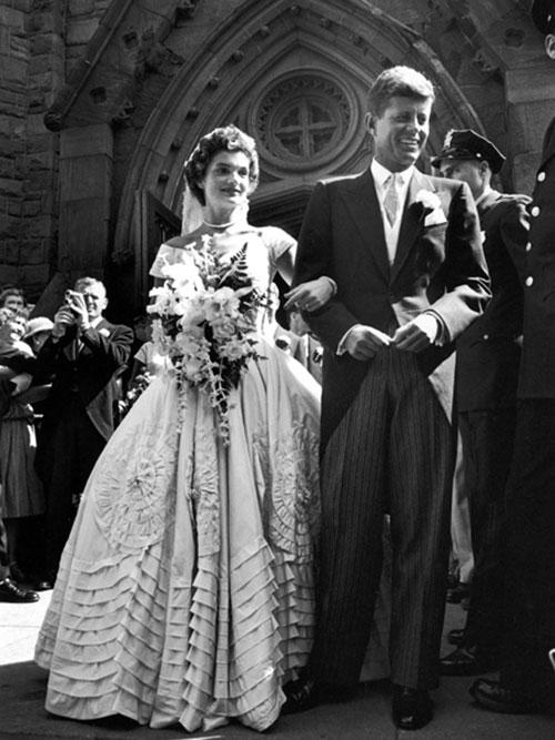 Robe de mariée de célébrités Jacqueline Kennedy