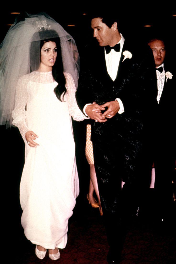 Robe de mariée de célébrités Priscilla Presley