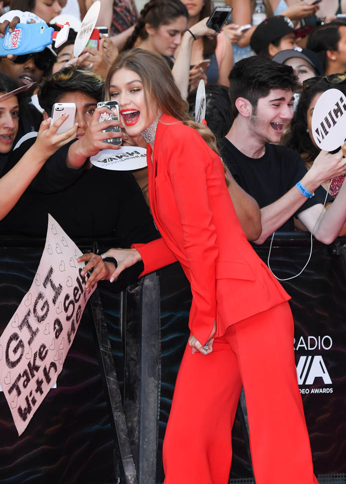 TORONTO, ON - JUNE 19:  iHeartRADIO MuchMusic Video Awards host Gigi Hadid arrives at the 2016 iHeartRADIO MuchMusic Video Awards at MuchMusic HQ on June 19th, 2016 in Toronto, Canada.  (Photo by George Pimentel/WireImage)