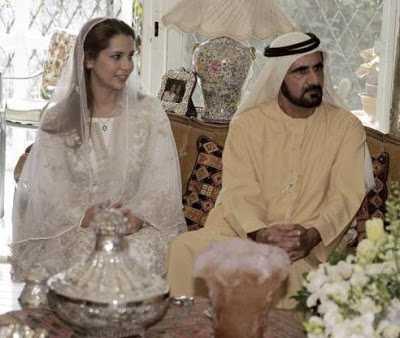 maraige  Sheikh Mohammed bin Rashid al Maktoum & Sheikha Hind Bint Maktoum