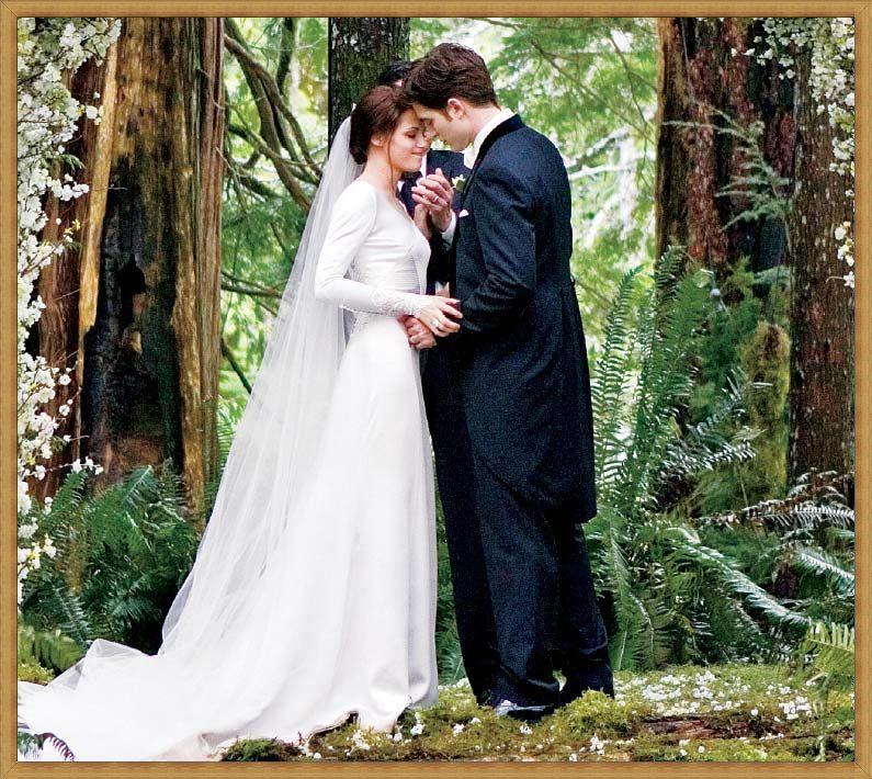 robe de mariée avec manches dans le film Twilight