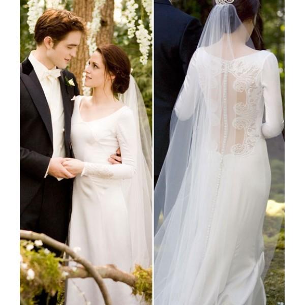 robe de mariée dos nu dans le film Twilight